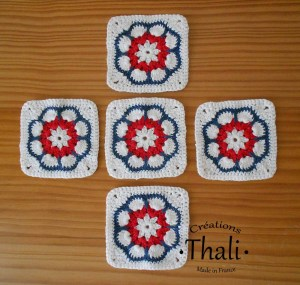 Granny square african flower octogonale