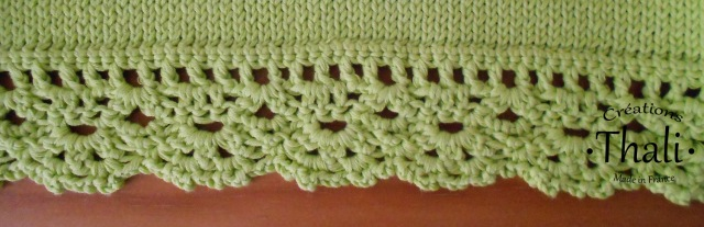 finition bordure tricot