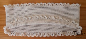 Le snood au crochet finition dentelle