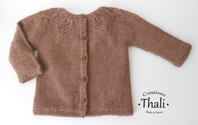 gilet feuilles thalicreations